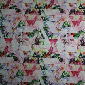 Printed jersey scuba multicolor
