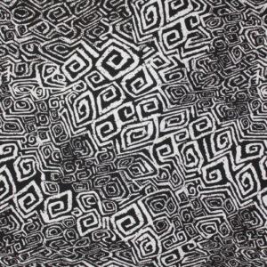 Printed Jersey i svart og hvit