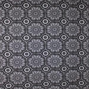Jersey print spennende mønster i svart/hvitt