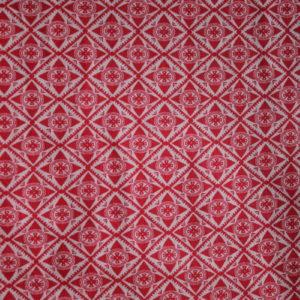 Bomull mønstret i rødt og hvitt