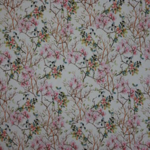 Blomstrende landskap Polyester/spandex jersey