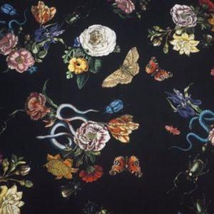 Printed jersey slanger, biller og blomster
