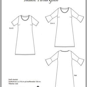 Perilla-kjolen symønster på papir