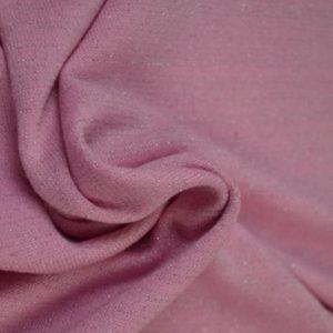 Jersey knit med glitter, rosa