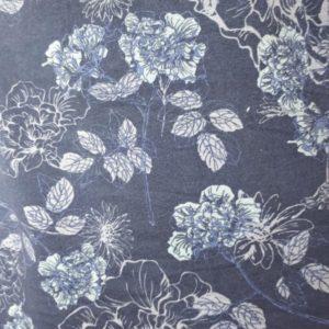 Bomull jersey med blomster
