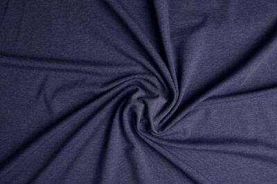 blå/grå melange jersey