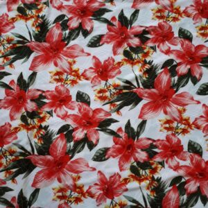 Printed jersey blomster