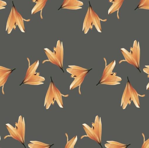 brun og orange skjortestoff